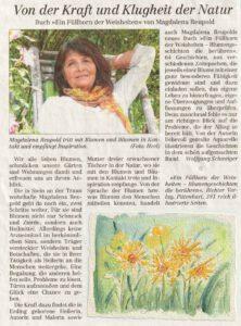 Zeitungsbericht im Traunsteiner Tagblatt KW21/2020